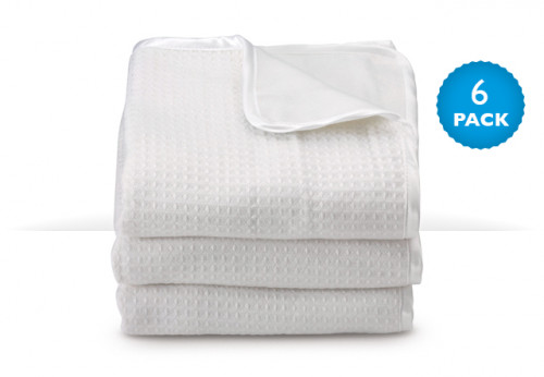 ThermaLux™ Blankets - White 6-Pack