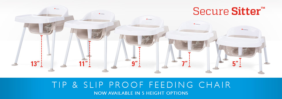 Secure Sitter - Tip & Slip Proof Feeding Chair with 5 height options