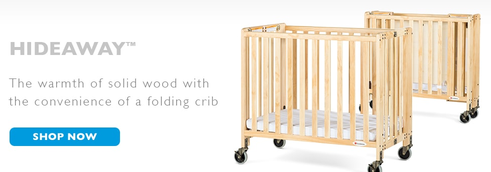 Foundations Hideaway Folding Crib