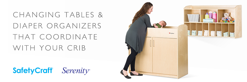 Changing Tables & Diaper Organizers that Coordinate with Your Crib