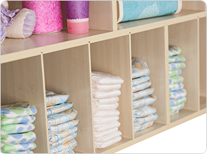 SafetyCraft Diaper Organizers storage compartments