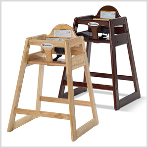 Classic solid wood high chairs