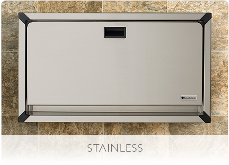 Many facilities prefer stainless steel baby changing tables from Foundations.