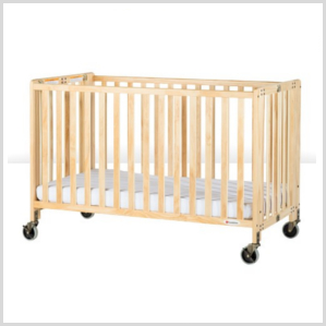 Wood folding crib